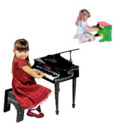 Children playing a piano purchased from Hollywood Piano Company