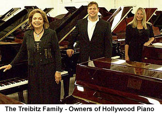 The Treibitz family are the owners of Hollywood Piano Company