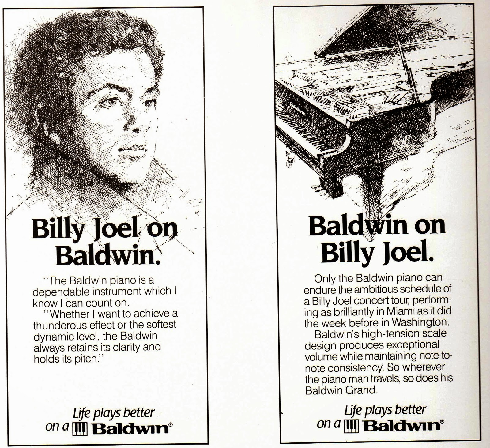 Billy Joel on Baldwin