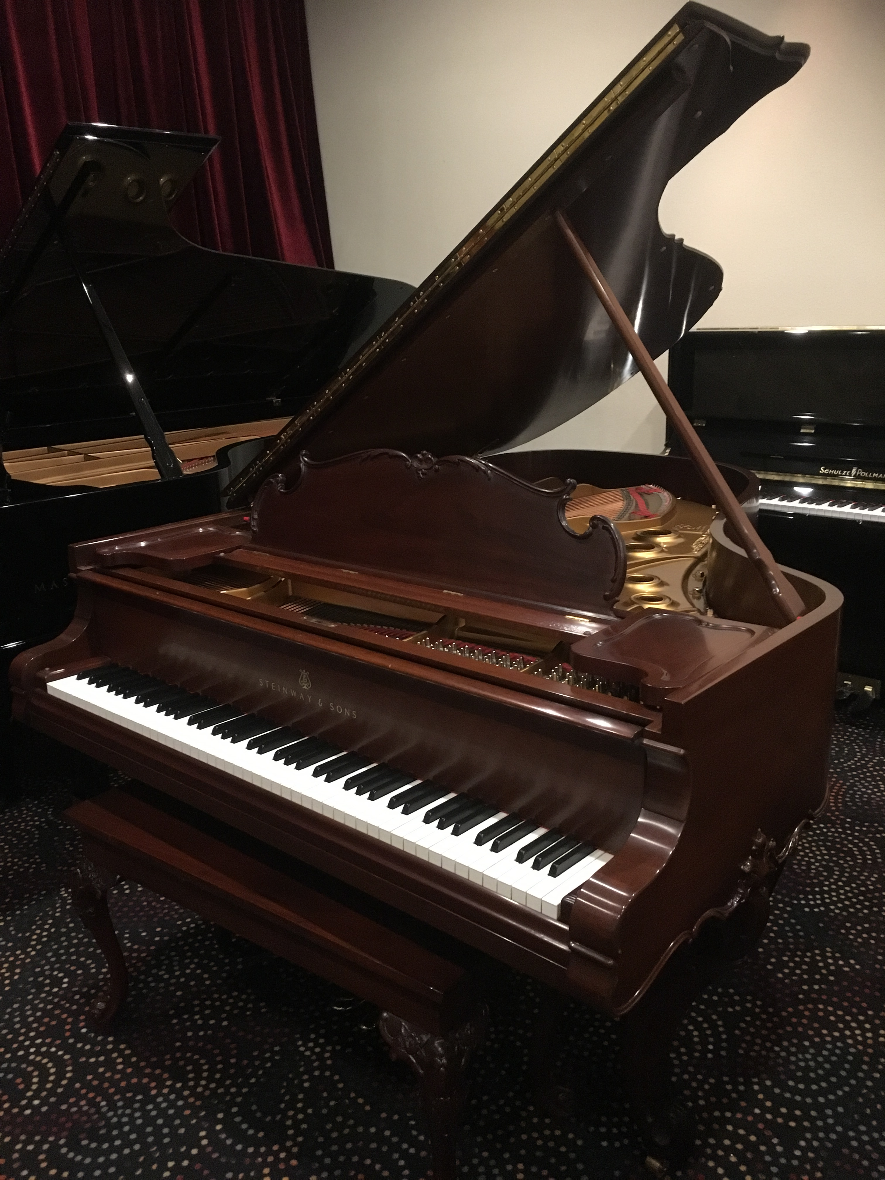 Steinway and Sons Model A Walnut Grand Piano